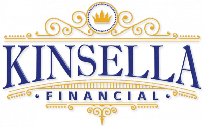 Kinsella Financial Logo New Trans Surround Part White